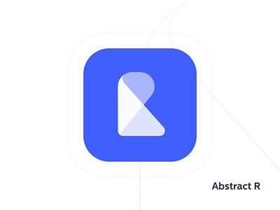 "Abstract ""R"" Monogram clean logo geometric minimalistic"