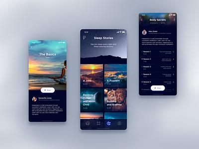 Meditation App design sleep app ui