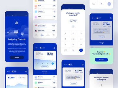 Mobile Banking components light clean app design ui figma account banking finance app