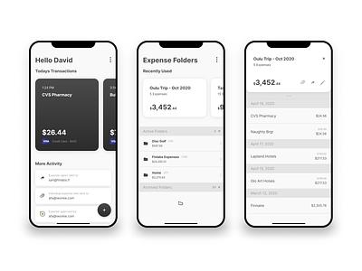 Cashola minimal simple mobile expense tracker expenses ui ux app