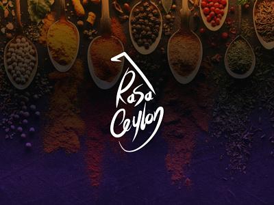 Rasa Ceylon logotype design typography clean design illustration vector creative design logodesign branding