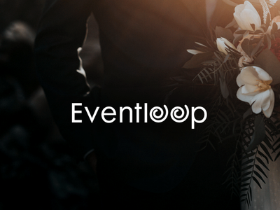 Eventloop typography logodesign logo mark branding brand identity