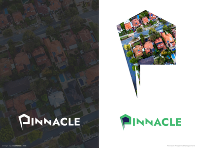 Pinnacle logodesign real estate logo clean design brand identity logomark typography creative design branding