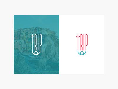 Logo & Brand Identity - TripTop brand identity typography logodesign clean design verbicon branding