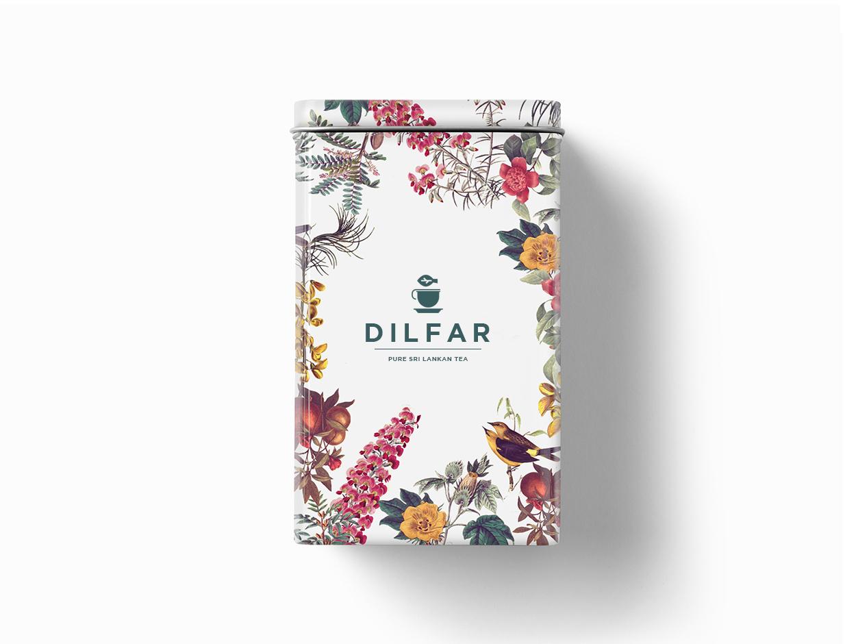 Dilfar Ceylon Tea creative tea branding flowers illustration natural language natural tea logo designer logodesign logo ceylon tea ceylon tea tea logo