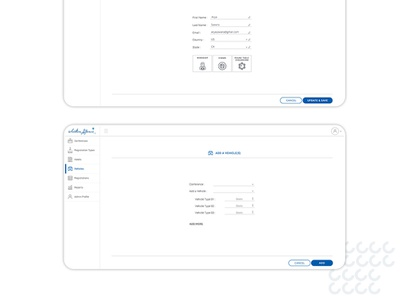 Conference Management System - Dashboard UI blue and white dashboard design clean design user experience user interface design ui  ux uidesign