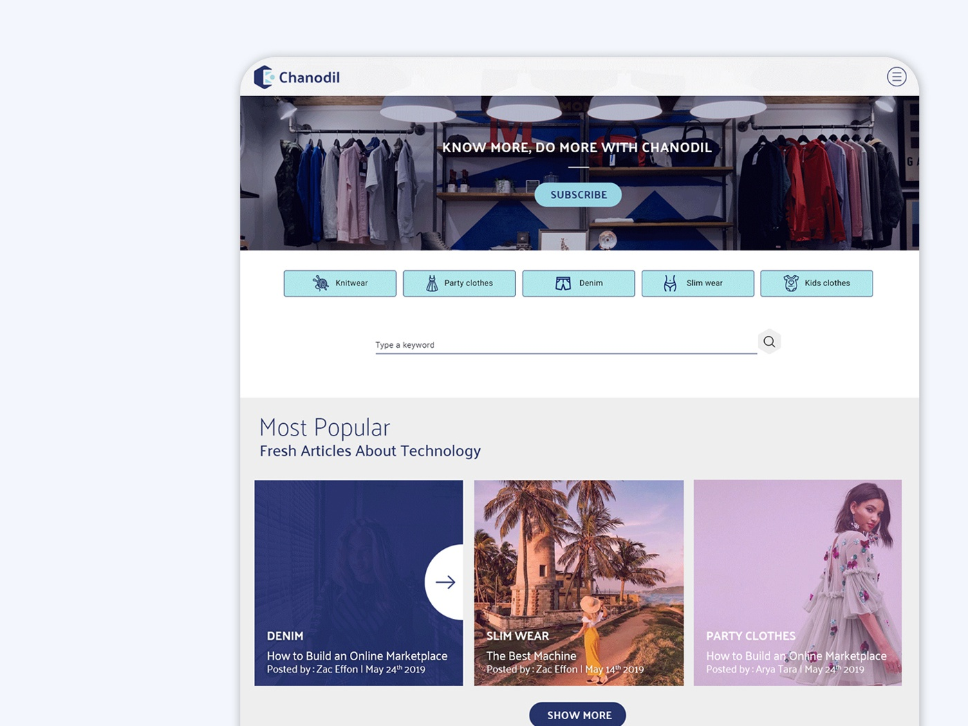 Fashion Blog platform online platform fashion platform fashion app blues logodesign user interface user experience ui ux user uidesign ui  ux blog cover blog theme blogger fashion blog