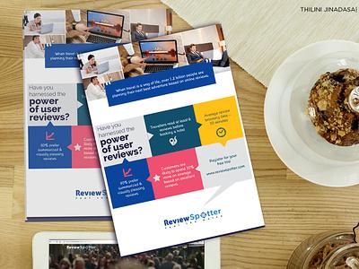Leaflet Design - Reviewspotter Sri Lanka marketing tool marketing off line media leaflet design icon design illustration typography branding vector clean design creative design