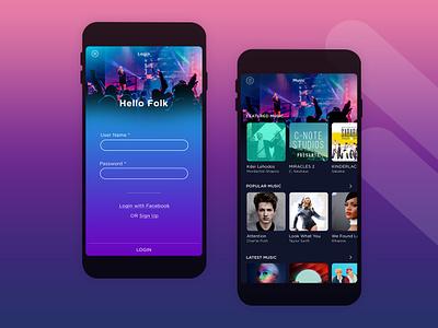 Music App sri lanka ux uidesign ui music app  design app