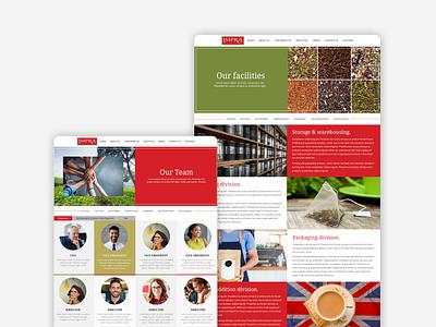 Impra tea branding srilanka responsive design website typography ceylon tea ceylon tea
