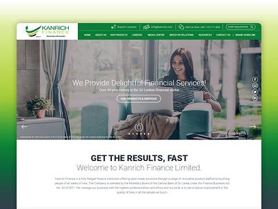 Kanrich Finance sri lanka webdesign design uidesign responsive website design