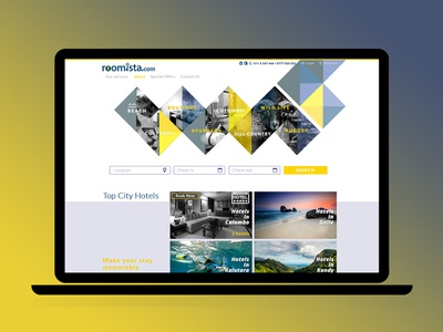 Conceptual Design for Roomista booking system booking app hotel reservation reservations typography uiux webdesign