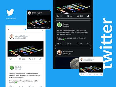 Twitter Redesign figma challenge adobe xd resume