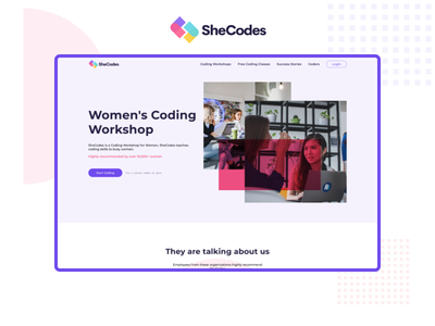 SheCodes Redesign redesign figma challenge adobe xd resume