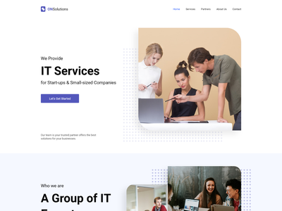 Agency Website xd design webdesign branding design ui  ux ui dailyui