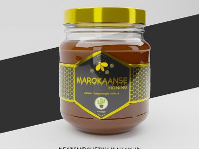 Product Packaging│ Honey JarPackaging │ Product Label honey packaging honey label label package packaging label design box design 3d product pacakge