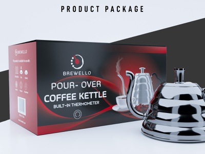 Product Packaging │ Kettle Packaging │ Product Label kettle package packaging label design box design 3d product pacakge
