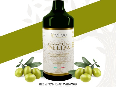 Product Label │ Olive Oil Packaging │ Olive Oil Label pouch packaging packaging label design 3d box design product pacakge