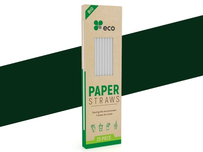 Product Packaging │ Paper Straw Packaging │ Product Label eco friendly packaging straw packaging product packaging pouch packaging design illustration logo packaging graphic design label design box design 3d product pacakge