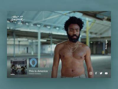 This Is America website concept