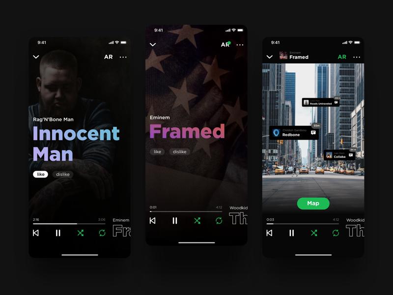 Spotify App Redesign AR by Dmitriy Ajay on Dribbble