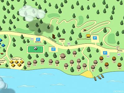 recreation park map 3dmap cartoon map park recreation