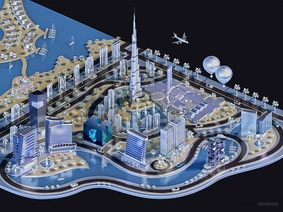 Downtown Dubai downtown dubai map 3d 3dmap dubai