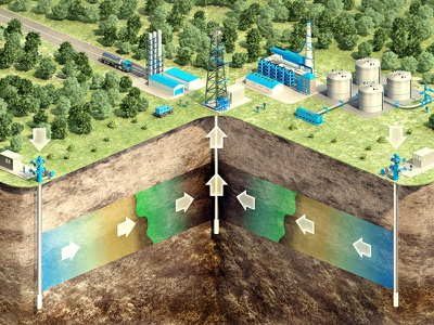 Oil production with injection ASP production layer underground extraction oil cutaway 3d rendering isometry 3d industry