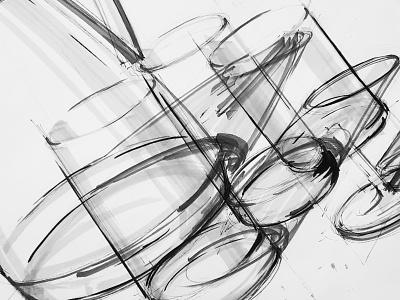 ID Sketching | 004 inspiration design inspiration design school technology freehand cubes delft university pen sketch fineliner sketch designer engineering mechanical engineering product design industrial design markers pen rough sketching