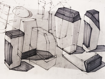 ID Sketching | 006 school university technology mechanical engineering linework objects shapse work rough inspiration id sketching id product design industrial design sketching sketches designer design delft cubes