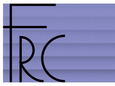 FRC poster print layers halftone run club running illustration vector brand logos typography design logo branding identity