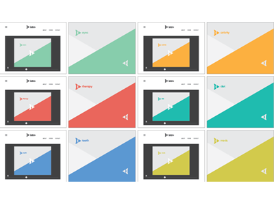 Divisions of Intro Wellness responsive color divisions identity brand
