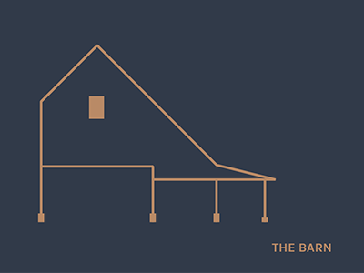 Bridge to Barn wedding branding elevations maps architecture linework