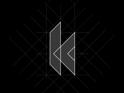 K-exploration grid vector design branding typography mark logo identity