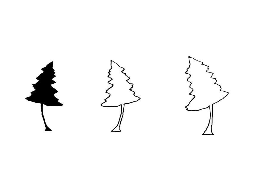 Fir Babies vector identity branding illustration drawing sketch design fir logo mark tree