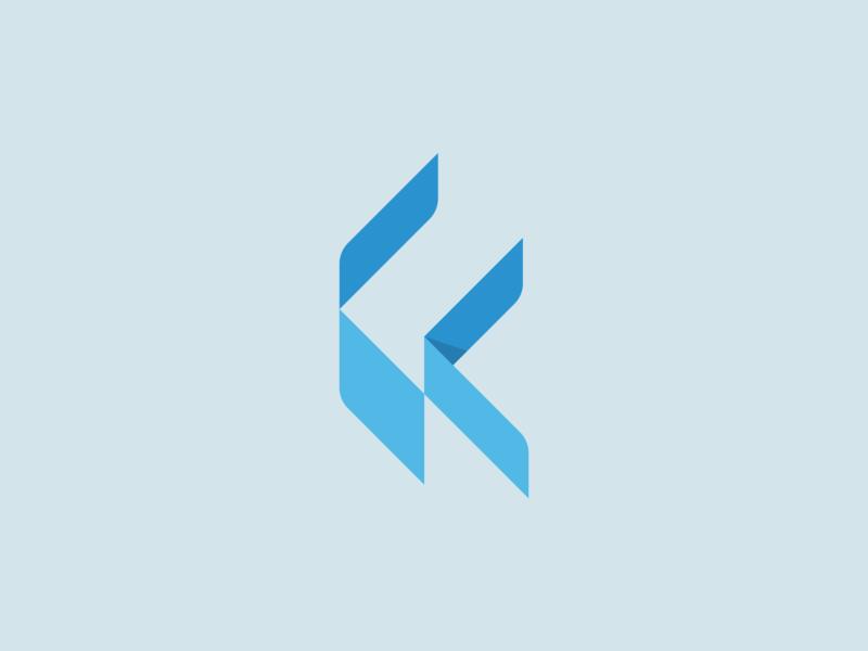 K + Space negative space space k vector brand mark logos design logo branding identity