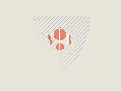 Lines & Shapes monogram shapes lines illustration typography design
