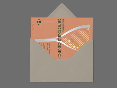 Invitation Design monogram print glass mimosa texture vector illustration typography design