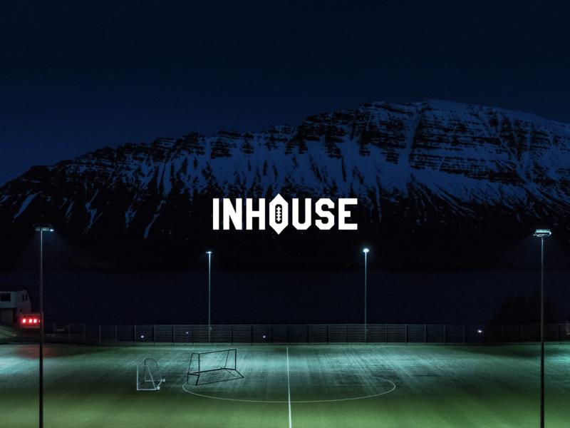 INHOUSE Studio Logo identity redesign lettering icon minimal typography designer clean vector branding logo design ux ui