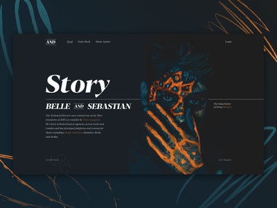 Online Storytelling flat branding logo identity redesign lettering designer clean website web ux ui typography minimal design