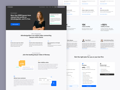 Advokatguiden - For lawyers desktop minimalist full page page webdesign website design website advokatguiden