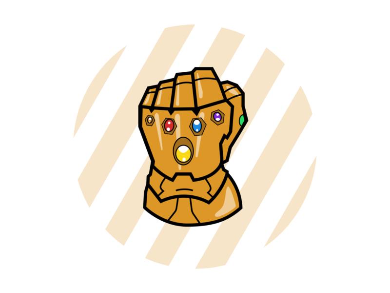 Thanos gauntlet gauntlet adobe illustrator design graphism thanos marvel
