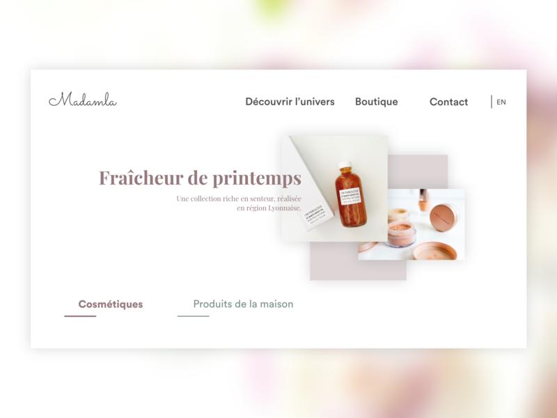 Cosmetic online shop ux france webdesign template ui landpage shop design