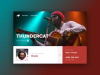 Thundercat website concept