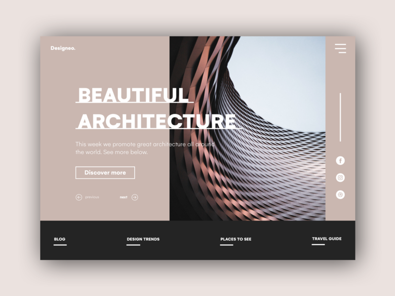 Designeo homepage landing page app design ux ui france concept webdesign