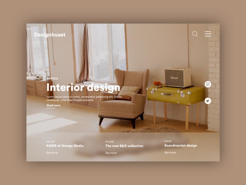 Designhuset website ux webdesign norway france ui landing page concept homepage art interior design