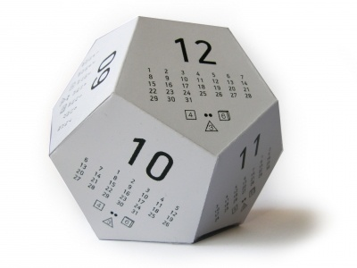 Dicecal - Multifunctional 3D Paper Calendar