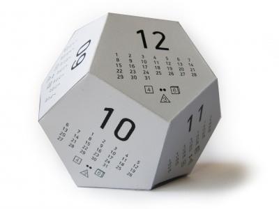 Dicecal - Multifunctional 3D Paper Calendar print multifunctional geek rpg dice paper 3d desk calendar origami calendar
