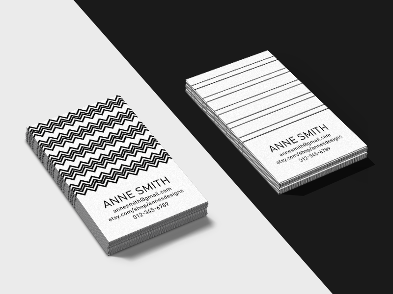 Simply Business Business Card Templates Template 5 And 6 By