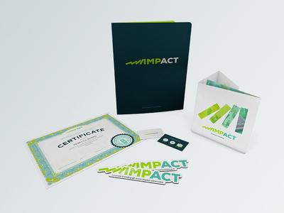 Impact Branding 02 impact branding logo folder mockup magnet certificate sweater